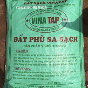 Đất phù sa sạch ( bao 25 kg ), đất trồng cây, trồng rau, trồng hoa