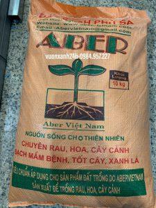 Đất sạch phù sa ABER, bao 10 kg