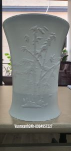 Chậu hoa ống trúc dáng cao ( 25x33cm )