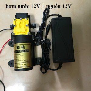Máy bơm nước mini 12 v kèm nguồn Adaptor